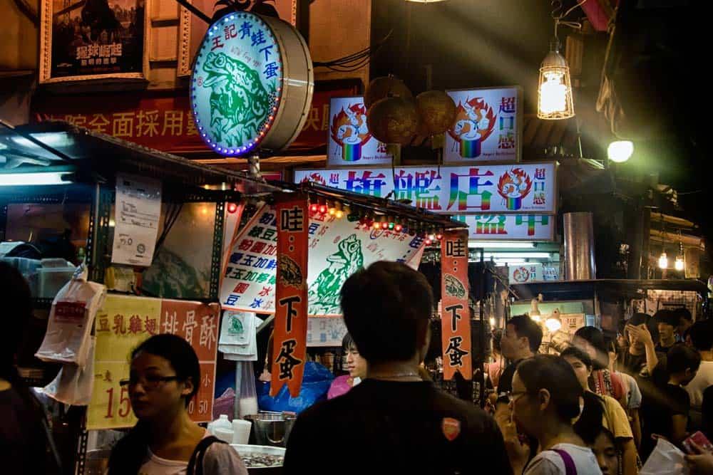 Ever chaotic Shilin Night Market in Taipei, Taiwan