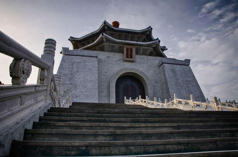 Morning view of Chiang Kai-shek Memorial Hall in Taipei, Taiwan