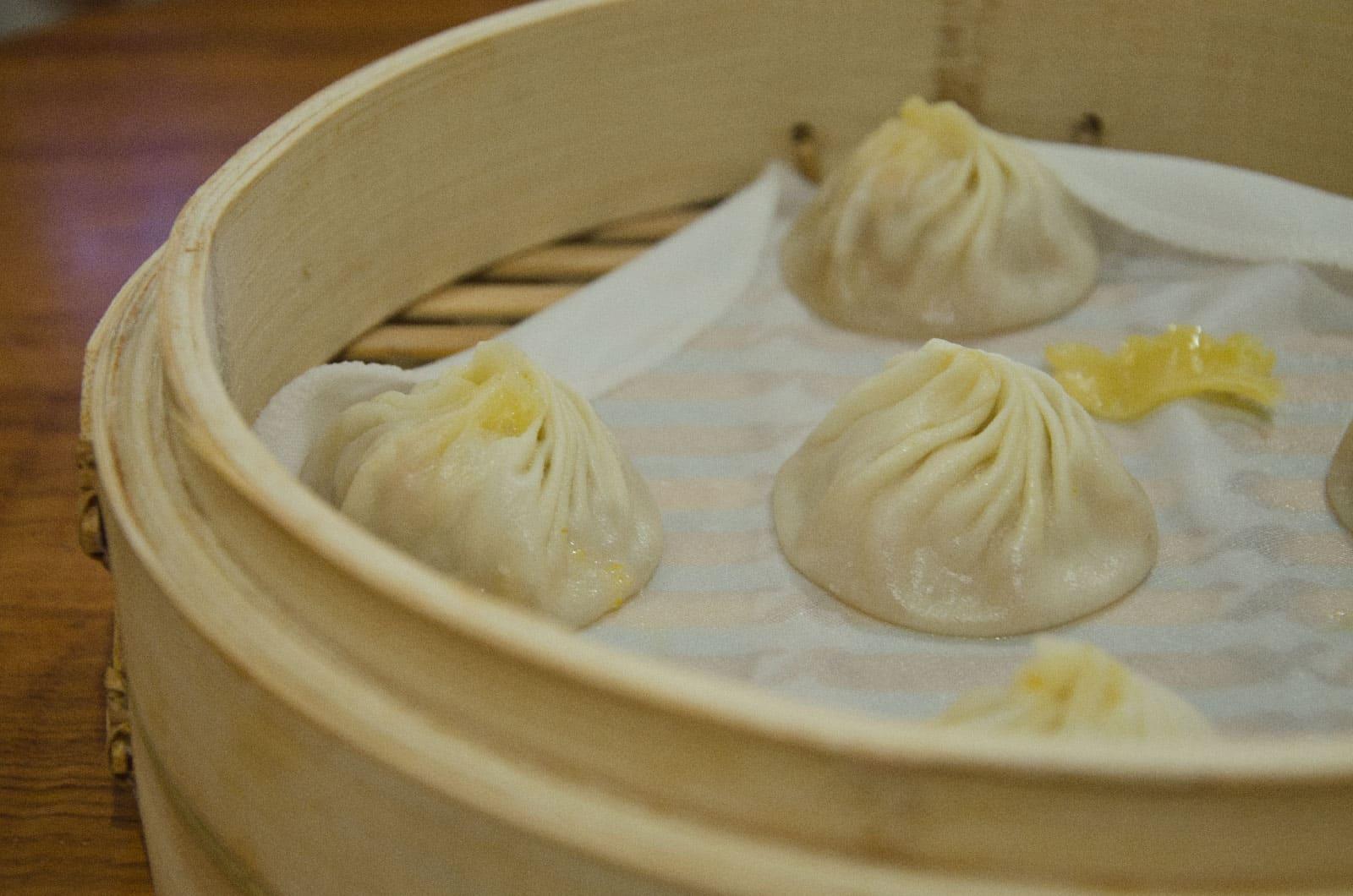 Dumplings at Din Tai Fung in Taipei 101, Taipei, Taiwan