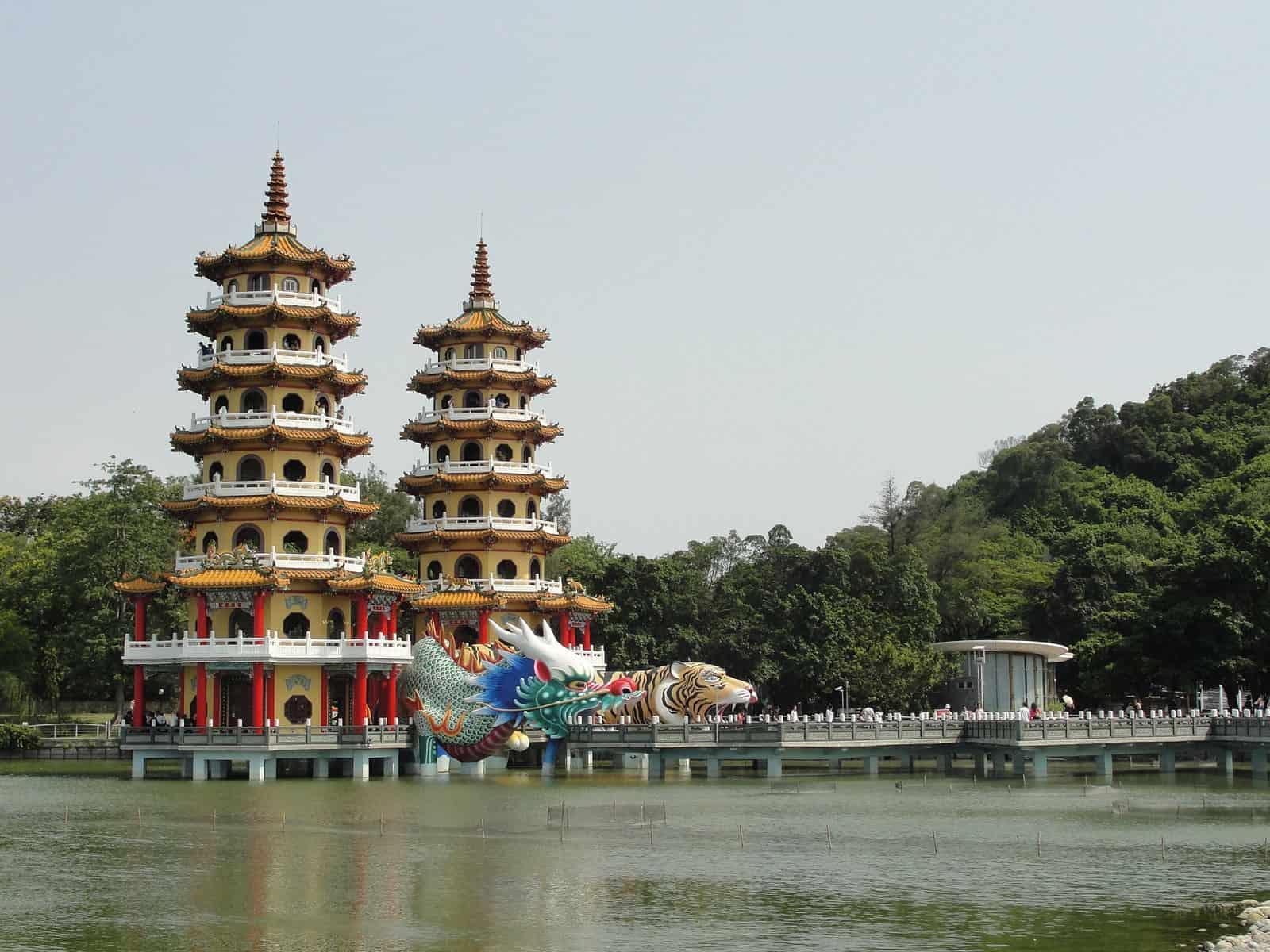 Lotus Pond in Kaohsiung, Taiwan