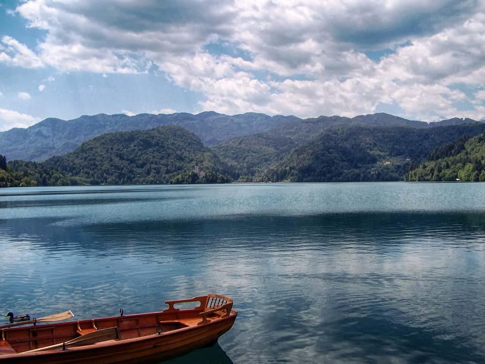 Row Boat on Lake Bled, Slovenia