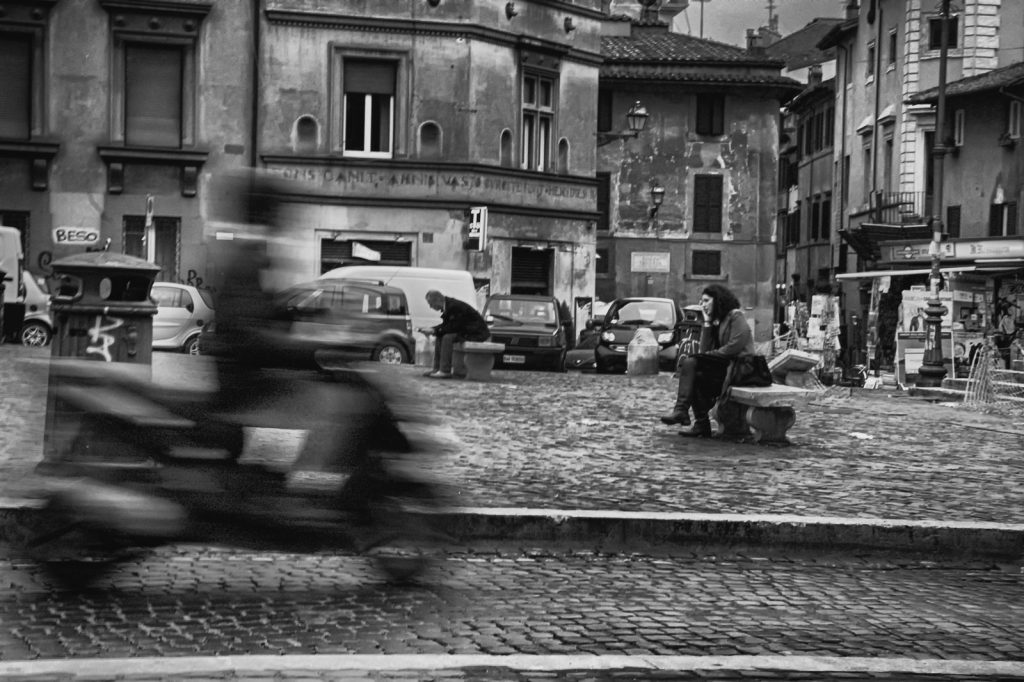 Motorcycle in Trastevere, Rome, Italy