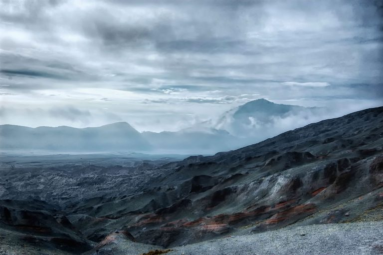 Volcanic Landscape near Gunung Bromo, Indonesia