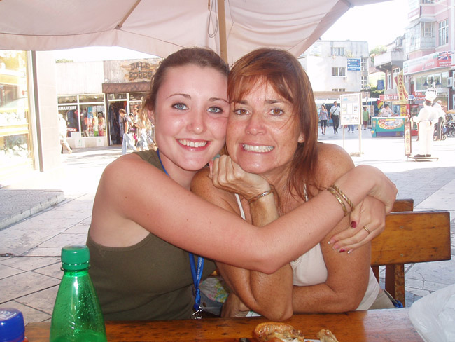 Savannah with her mom