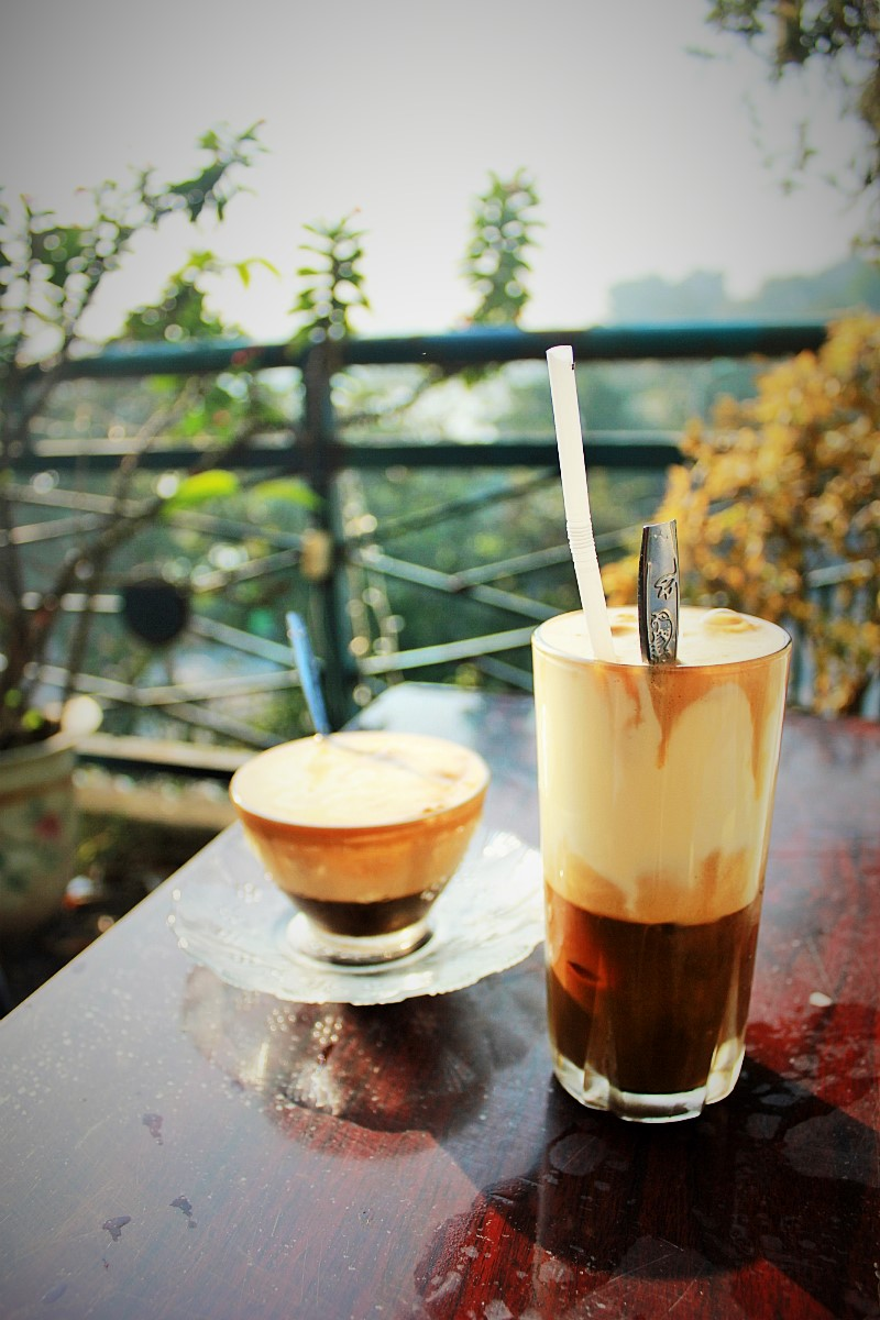 Coffee with egg from Cafe Pho Co in Hanoi - Charlie on Travel