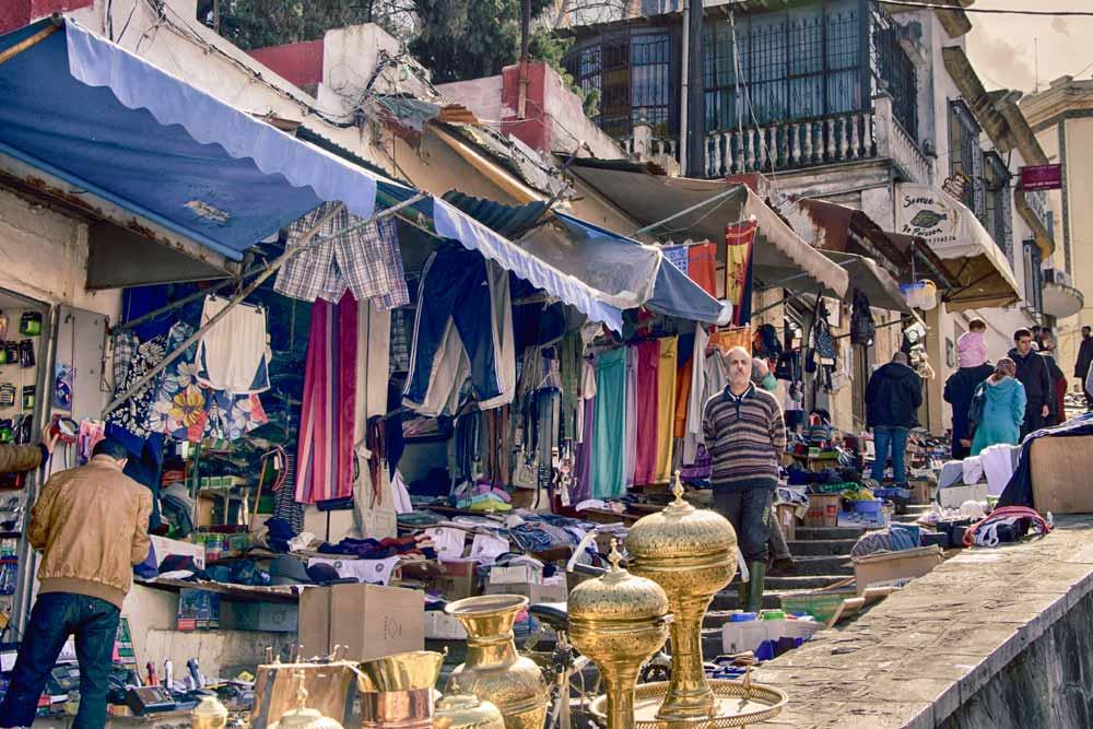 Souvenir Markets in Tangier, Morocco