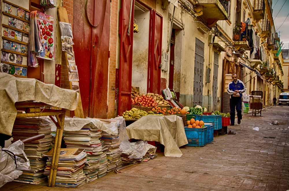 Street market in Tangier, Morocco