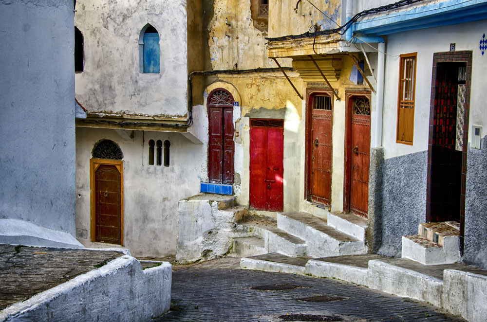 Colourful Alleyway in Tangier, Morocco