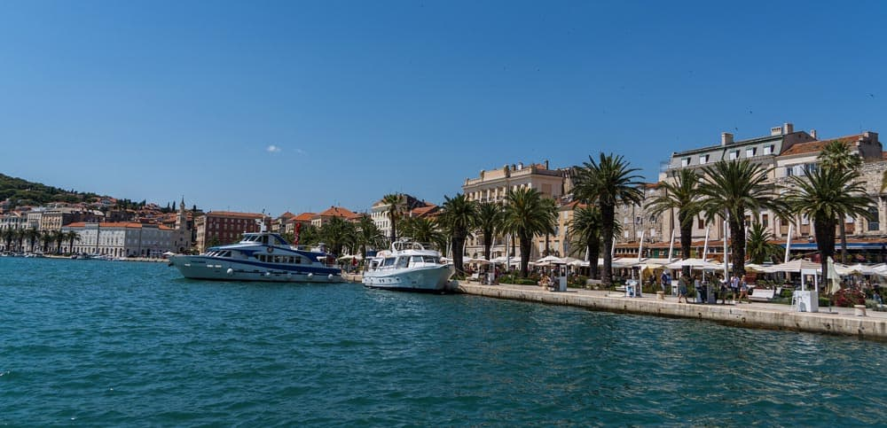 Adriatic Sea in Split, Croatia