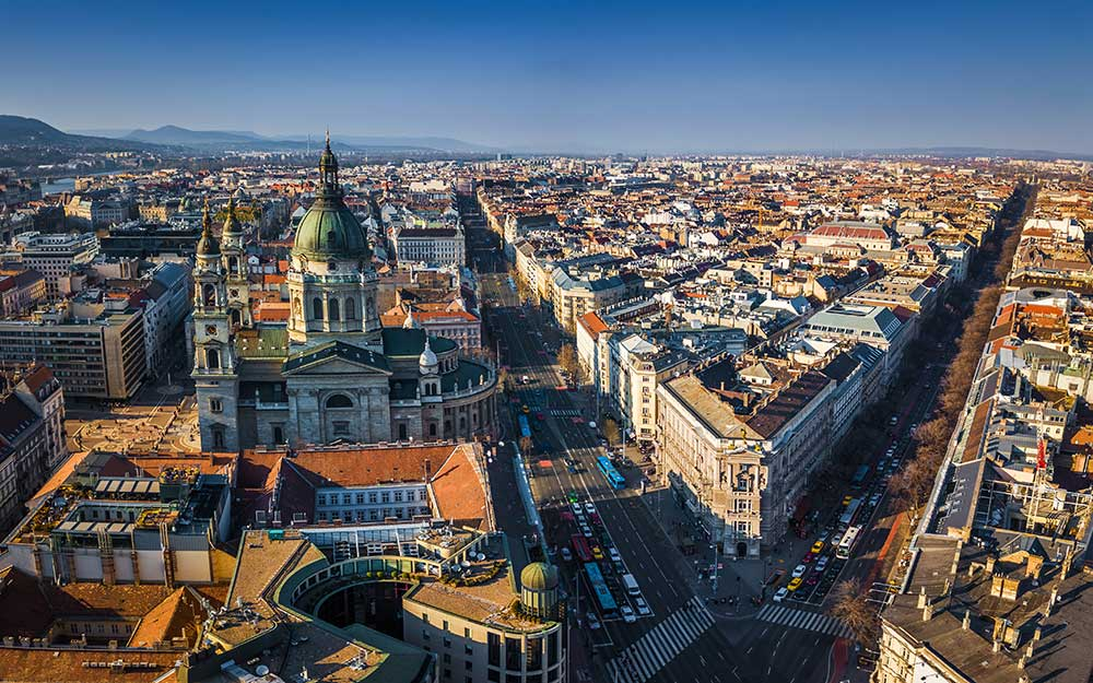 Aerial View of Andrassy Avenue