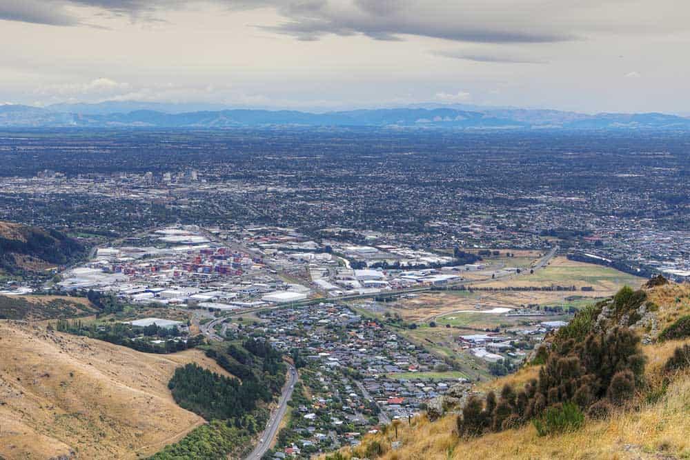 Aerial View Christchurch