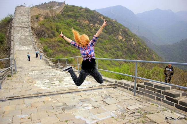 Agness at the Great Wall of China