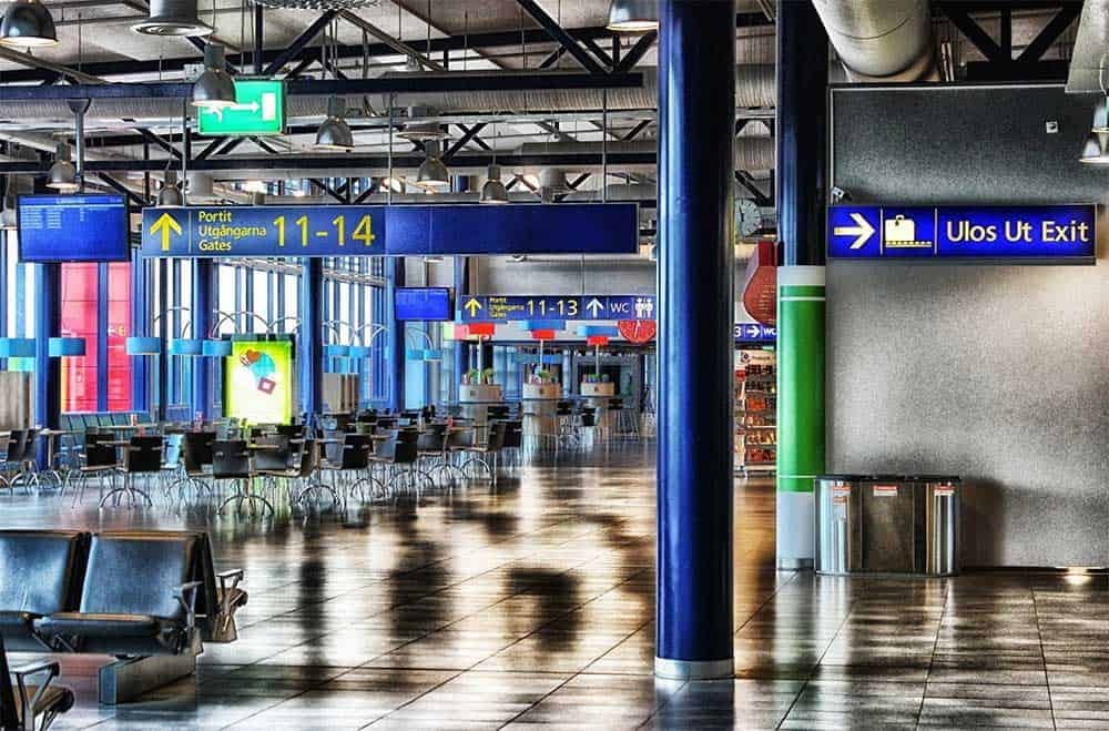 Airport in Oulu, Finland