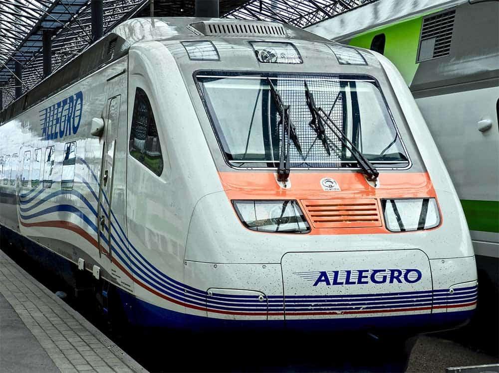 Allegro Train in Helsinki, Finland