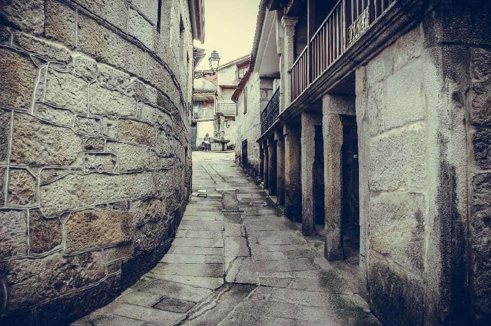 Alley in Combarro, Spain