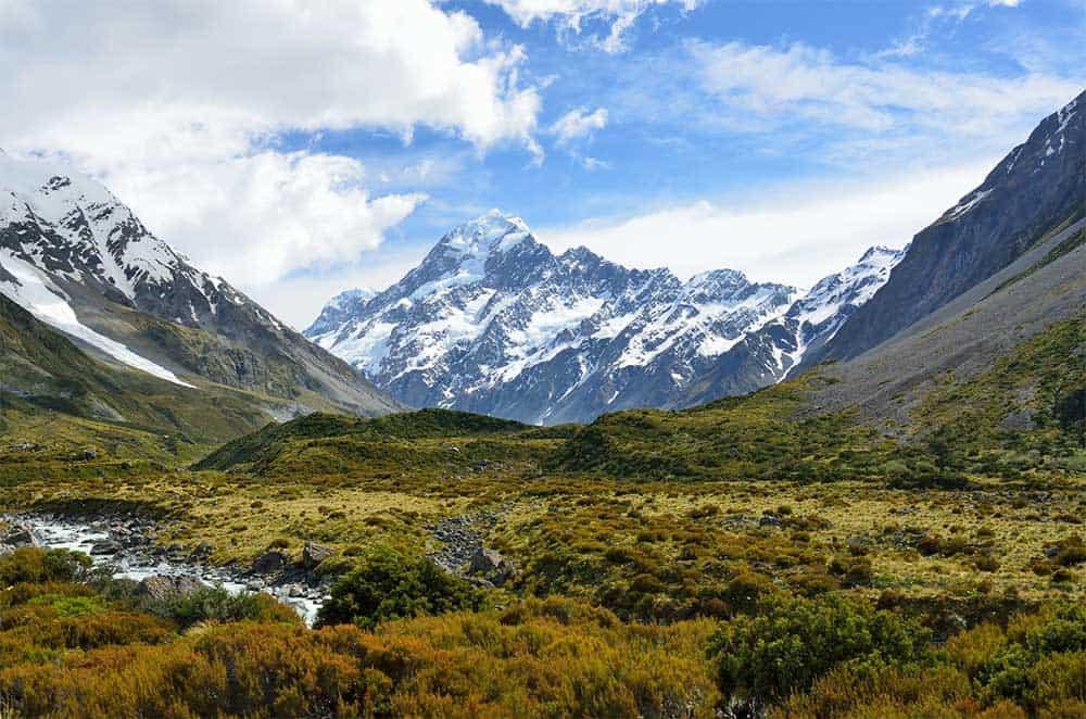 Aoraki Mount Cook in New Zealand