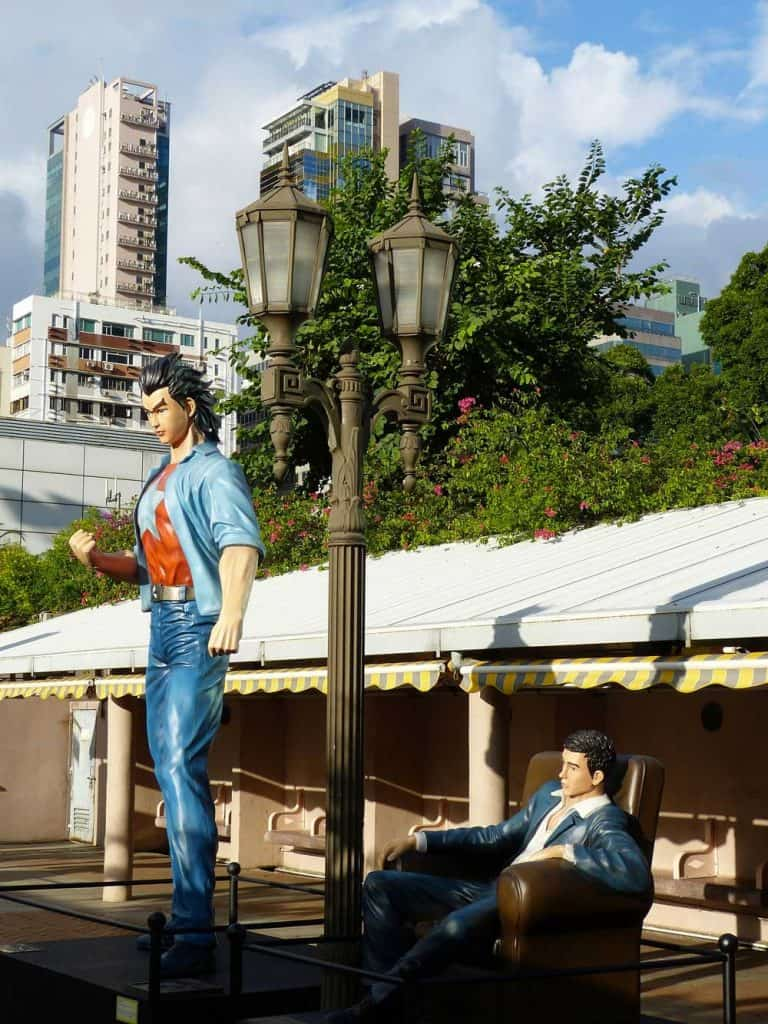 Avenue of Comic Stars in Kowloon Park