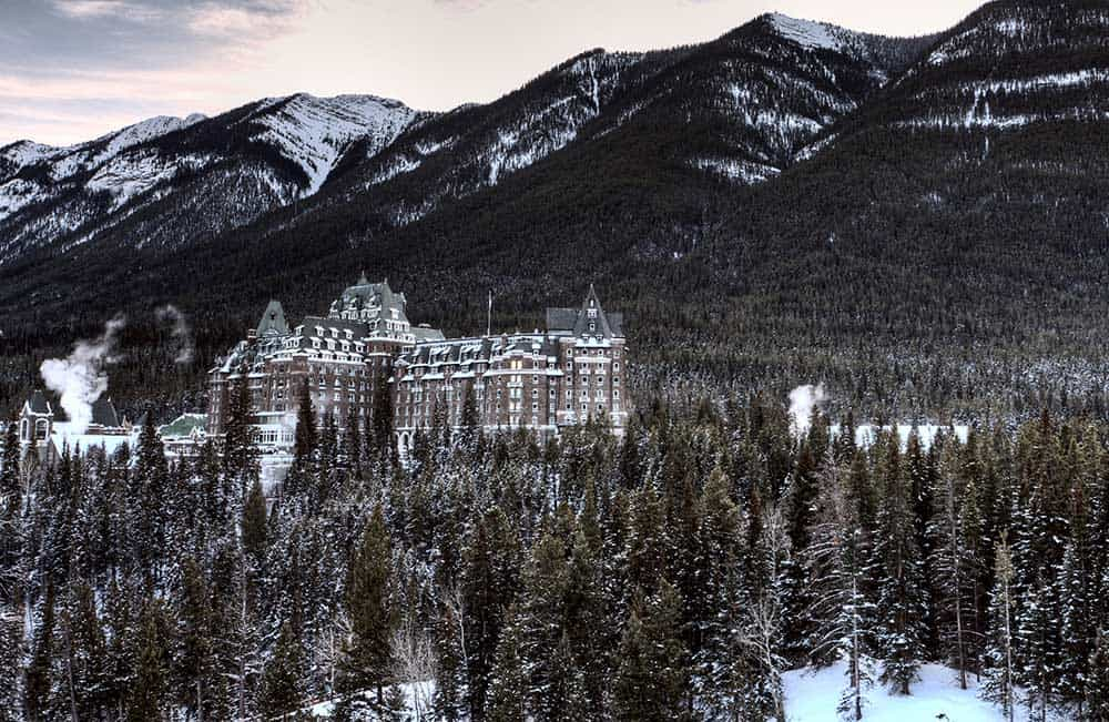 Banff Springs Hotel Winter
