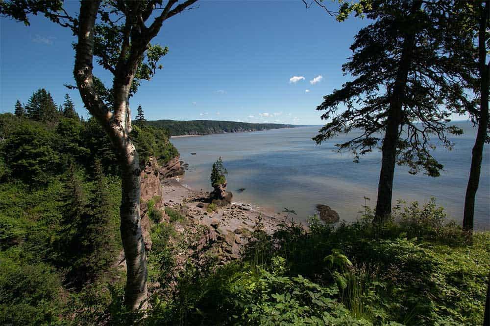 Bay of Fundy in St Martin's, New Brunswick