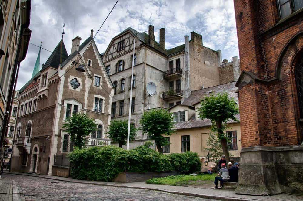 Beautiful Medieval Buildings in Old Town Riga, Latvia