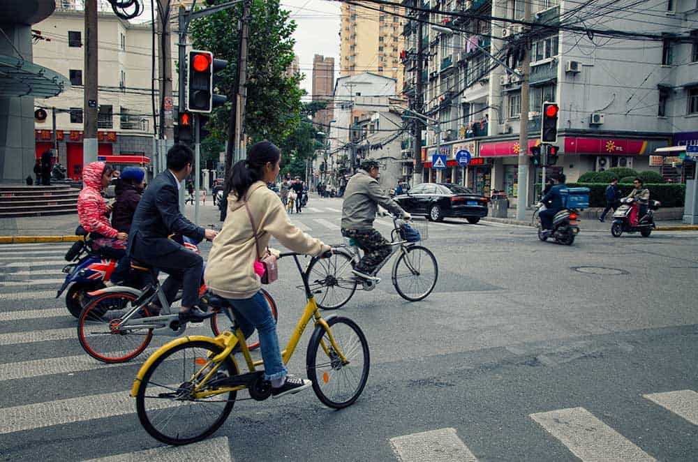 Bicycles in Shanghai, China