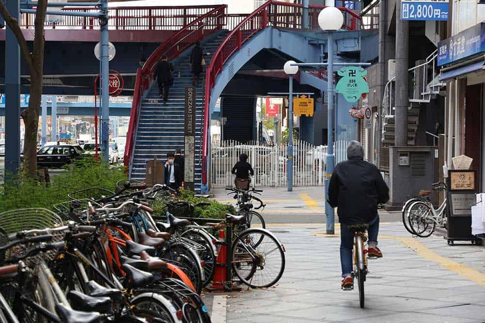 Bicycles & Cycling on Sonezaki Street