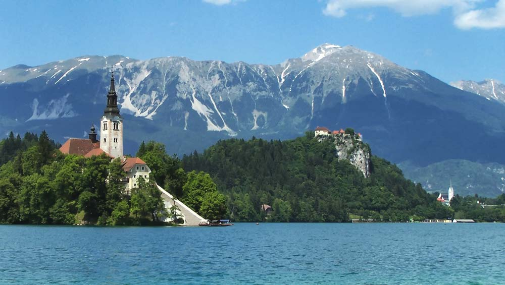 Bled Island on Lake Bled, Slovenia