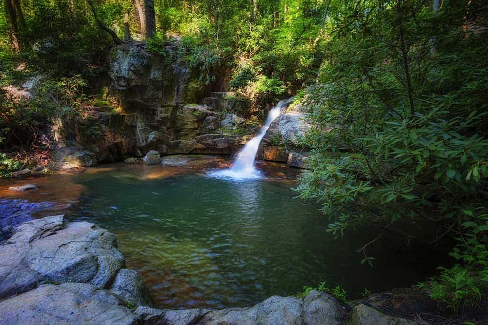 Blue Hole Waterfalls in Cherokee National Forest
