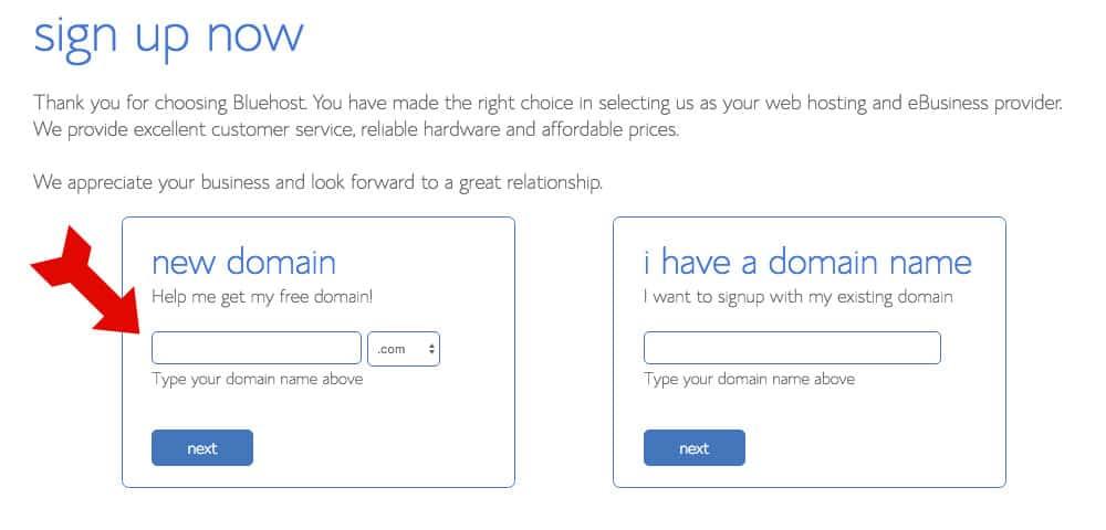 Bluehost - Domain Hosting