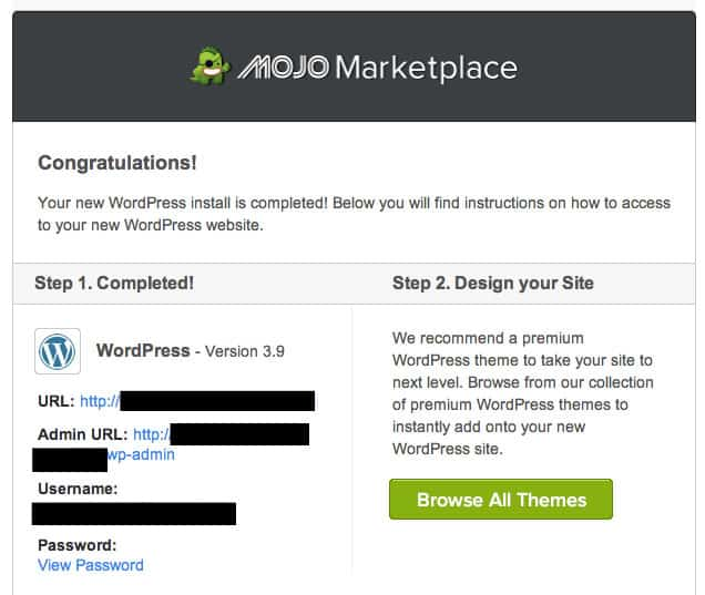 Bluehost - Mojo Email