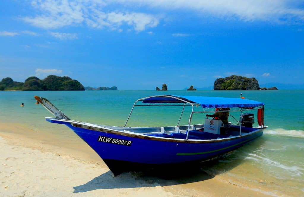 Boat on a Beach in Langkawi, Malaysia