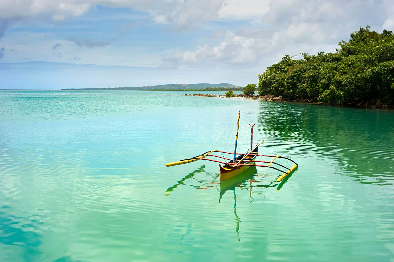 Boat at Calicoan Island, Philippines