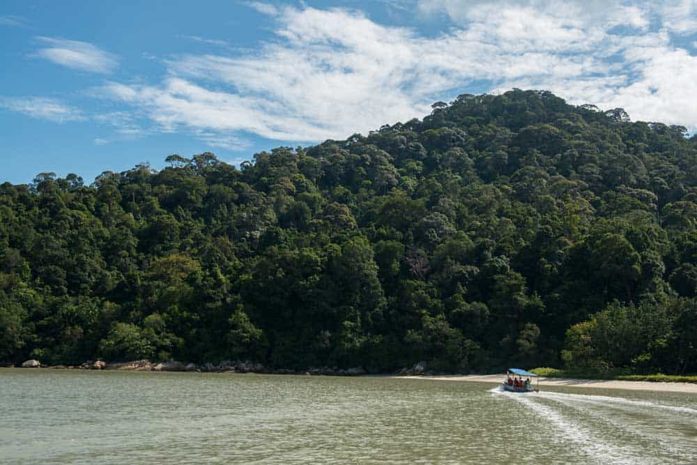 Boat in Penang National Park