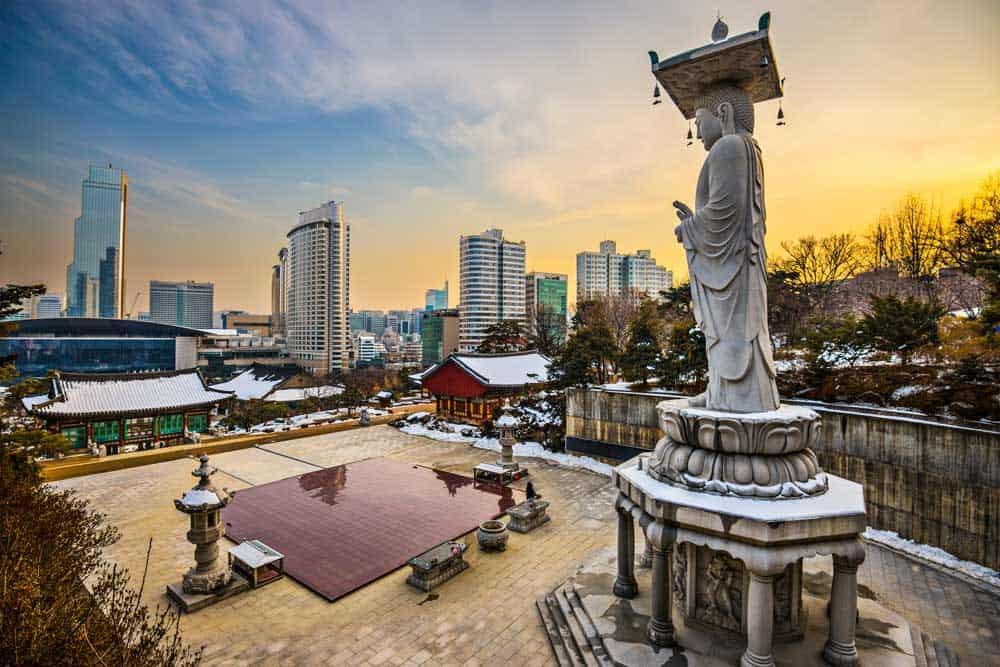 Bongeunsa Temple in Gangnam