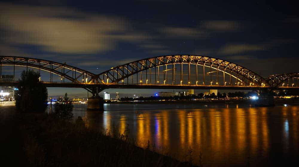 Bridge over Rhine River in Cologne