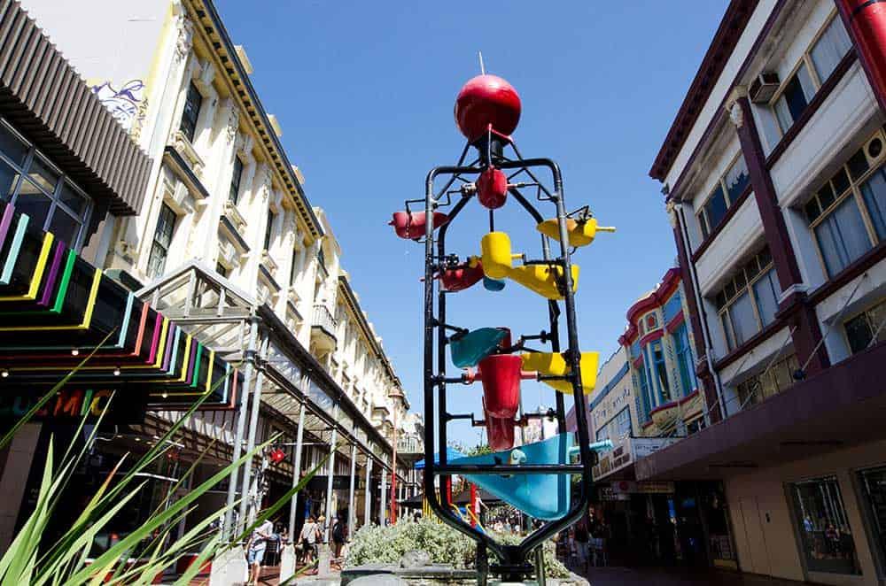 Bucket Fountain on Cuba Street