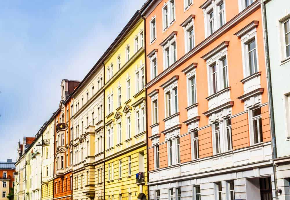 Colourful buildings in Haidhausen