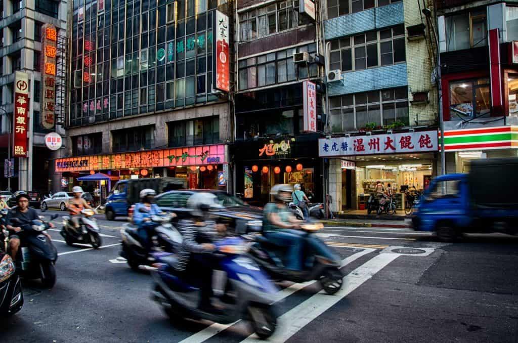 Busy Street - Zhongshan, Taipei, Taiwan