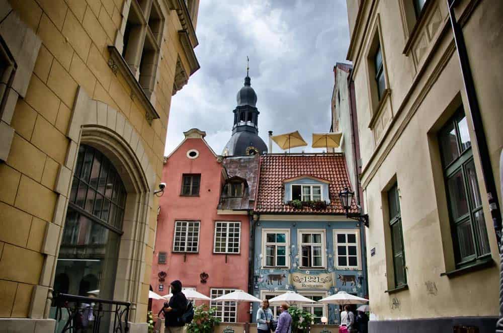 Cafés in Old Town Riga, Latvia