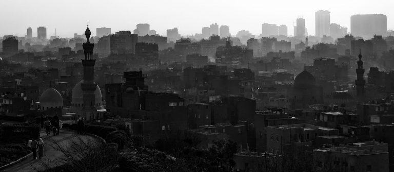 B&W Skyline of Cairo, Egypt