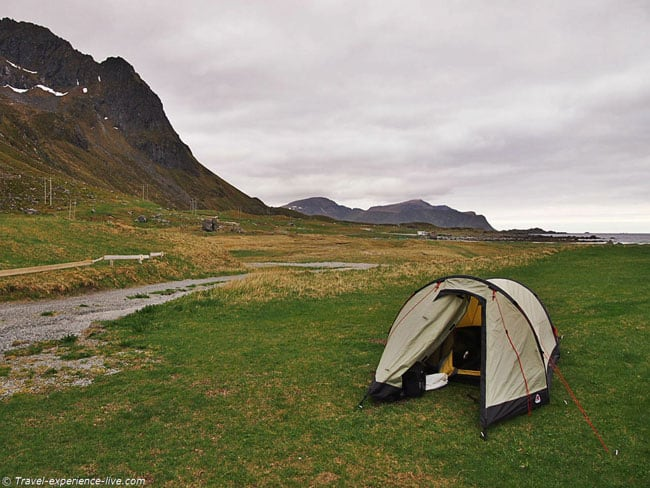Camping in the Lofoten Islands, Norway