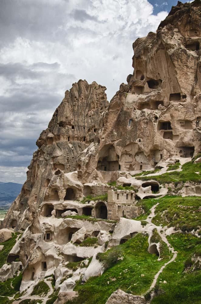Caves at Göreme Open-Air Museum in Cappadocia, Turkey