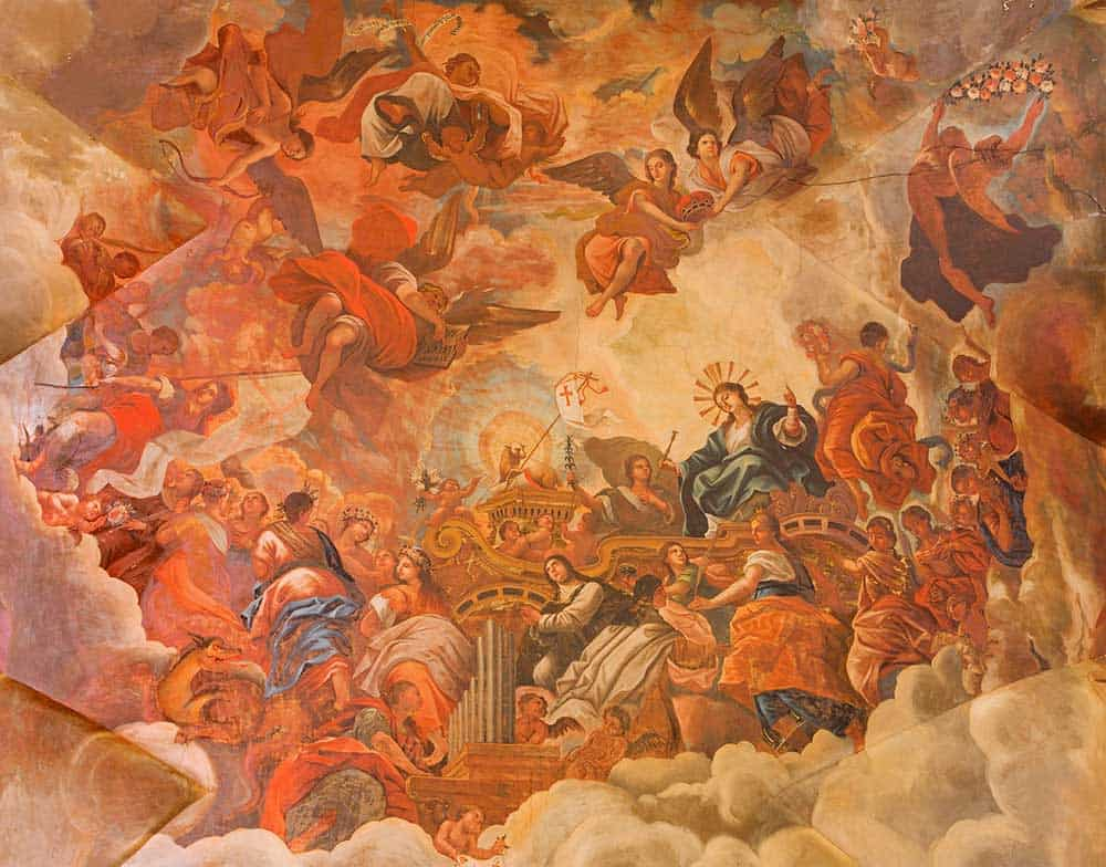 Ceiling Fresco at Basilica San Juan de Dios in Granada