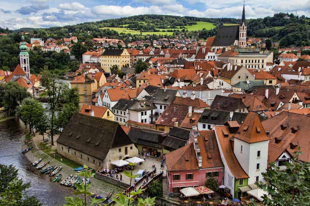 Cesky Krumlov Old Town from Above
