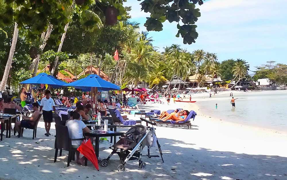 Chaweng Beach in Koh Samui, Thailand