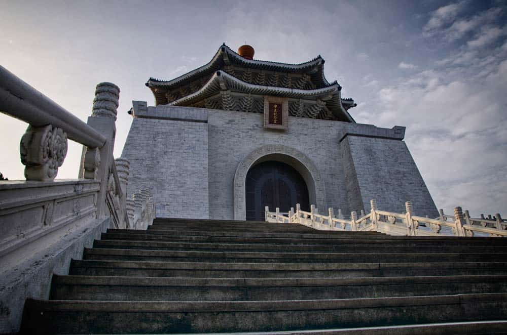 Morning view of Chiang Kai-shek Memorial Hall in Taipei, Taiwan