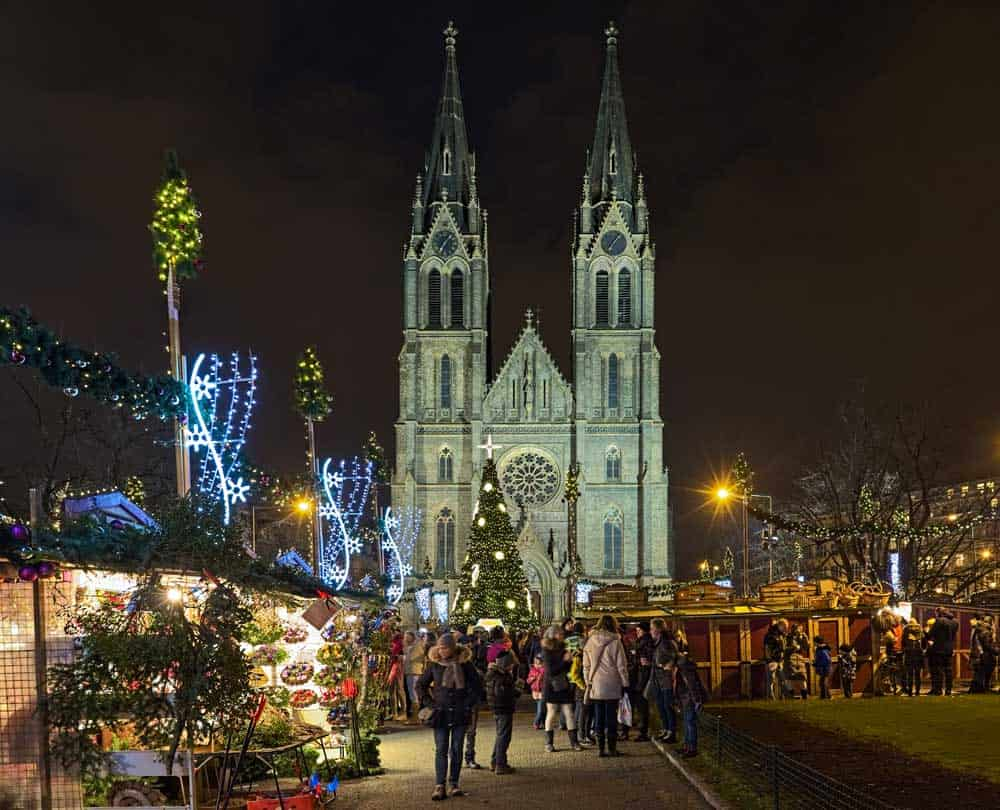 Christmas Market @ Peace Square in Vinohrady
