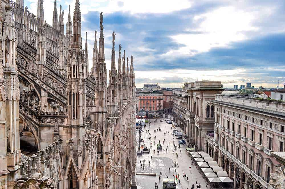 Cityscape from Milan Cathedral