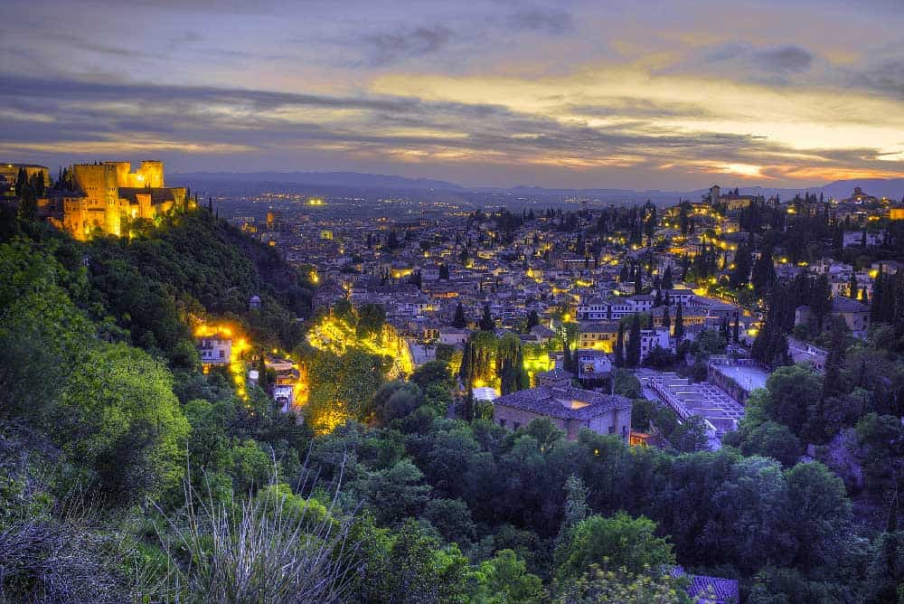 Cityscape in Granada, Spain