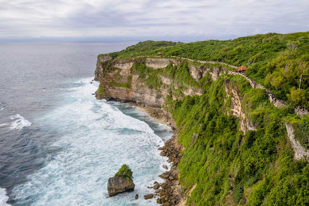 Cliff & coastline in Uluwatu, Bali, Indonesia